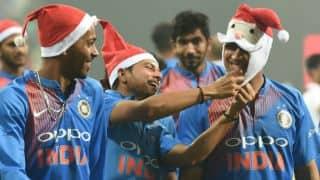 श्रीलंका को 3-0 से हराने के बाद टीम इंडिया ने मनाया क्रिसमस, महेंद्र सिंह धोनी बने सैंटा