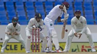 West Indies stutter to 90/3 at lunch vs India