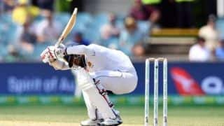 2nd Test: Sri Lanka's Karunaratne hit by bouncer and stretchered off