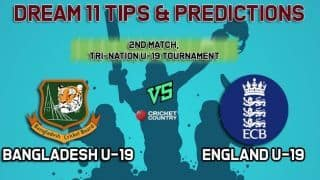 Dream11 Team Bangladesh U-19 vs England U-19 Match 2  YOUTH ODI TRI-SERIES– Cricket Prediction Tips For Today's  Match BN-Y vs EN-Y at Worcester