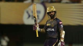 KKR vs RR LIVE: Dinesh Karthik's 50-ball 97 * pushes Kolkata Kinght Riders to 175/6 vs Rajasthan Royals
