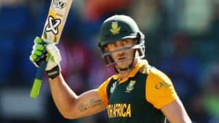 SA vs AUS: Du Plessis shrugs off credit for Proteas form