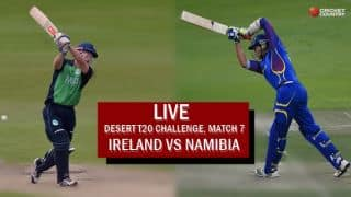 Live Cricket Score, Ireland vs Namibia, Desert T20 2017: Ireland win by 5 wickets