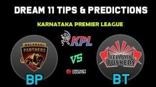 BP vs BT Dream11 Team Belagavi Panthers vs Bellary Tuskers KPL 2019 Karnataka Premier League – Cricket Prediction Tips For Today's T20 Match at Bengaluru