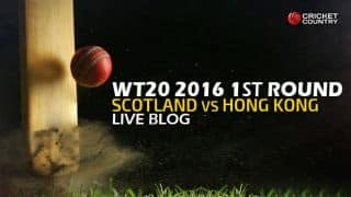 Scotland 78/2 in overs 8 | Live Cricket Score, Hong Kong vs Scotland, ICC World T20 2016, Group B Round 1, HK vs SCO, 10th Match at Nagpur: SCO win by 8 wickets