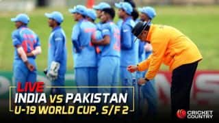 Live Cricket Score, IND vs PAK, U-19 WC 2018, Semi Final 2: India complete 203-run win