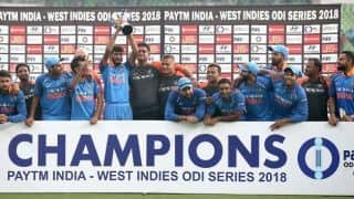 5th ODI: India seal series with thumping nine-wicket win over West Indies