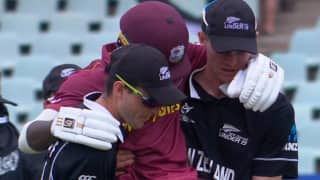 Icc under 19 world cup 2020 new zealand cricketers shows outstanding sportsmanship as they help injured kirk mckenzie 3925977