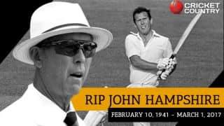 John Hampshire: Elegant batsman, respected umpire