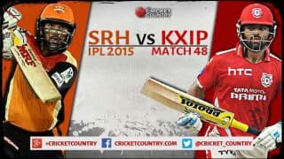Live Cricket Scorecard: Sunrisers Hyderabad vs Kings XI Punjab, IPL 2015 Match 48 at Hyderabad