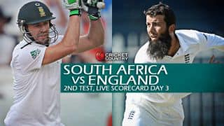 Live Cricket Scorecard: South Africa vs England 2015-16, 2nd Test at Cape Town, Day 3