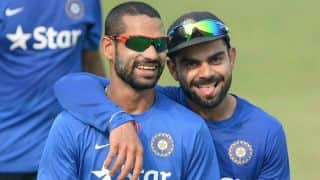Shikhar Dhawan edges out Virat Kohli