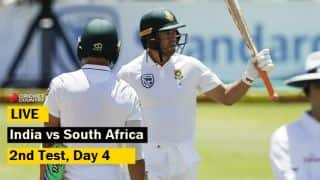 Live cricket scores, India vs South Africa, 2nd Test, Day 4 at Centurion