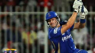 Rajasthan Royals open the batting with Shane Watson and Ankit Sharma