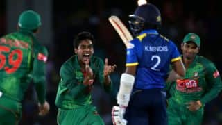 Mehedi shines on debut, BAN thrash SL by 90 runs; take 1-0 lead