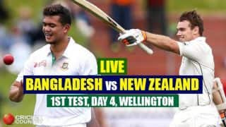 Live Cricket Score, Bangladesh vs New Zealand, 1st Test Day 4 at Wellington: STUMPS
