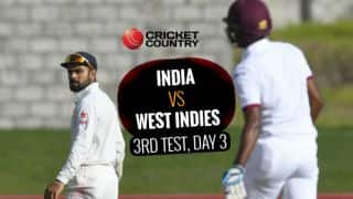 IND vs WI 3rd Test, Day 3 Live Updates: Play called off