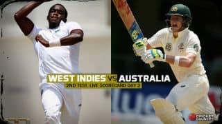 Live Cricket Scorecard: West Indies vs Australia 2015, 2nd Test at Kingston, Day 2