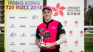 Kyle Christie eyes Kumar Sangakkara's wicket early as Jaguars set date with Gladiators in Hong Kong T20 Blitz 2018 Final
