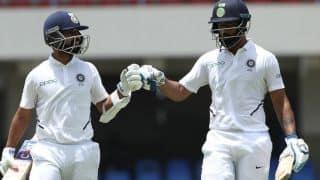 रहाणे के शतक, विहारी की 93 रन की पारी से वेस्टइंडीज को मिला 419 का लक्ष्य