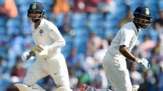 India firm after Murali Vijay, Cheteshwar Pujara's hundreds vs Sri Lanka on Day 2 at Nagpur