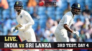 Live cricket score, India vs Sri Lanka, 3rd Test, Day 4: STUMPS
