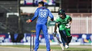 Live Cricket Score, AFG vs IRE, World Cup Qualifiers 2018 Super Sixes: Poterfield departs for 20
