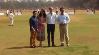 Sachin Tendulkar meets Prince William, Kate Middleton at Mumbai