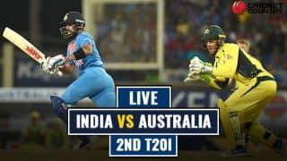LIVE CRICKET SCORE, IND vs AUS 2017-18, 2nd T20I at Guwahati