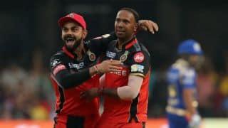 IPL 2017: Samuel Badree takes hat-trick during Royal Challengers Bangalore (RCB) vs Mumbai Indians (MI) match
