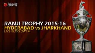JHA 25/0 | Live Cricket Score, Hyderabad vs Jharkand, Ranji Trophy 2015-16, Group B match, Day 4 at Hyderabad: Hosts win by 10 wickets