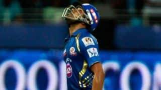 Rohit Sharma departs for Mumbai Indians against Delhi Daredevils in match 16, IPL 2014