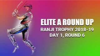 Ranji Trophy 2018-19, Elite Group A: Karnataka restrict Gujarat to 216