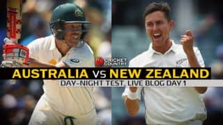 AUS 54/2 | Live Cricket Score Australia vs New Zealand 2015, 3rd Test at Adelaide, Day 1: AUS trail by 148 runs at stumps