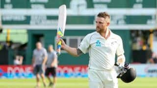 Brendon McCullum breaks AB de Villiers' record of most number of consecutive Tests since debut