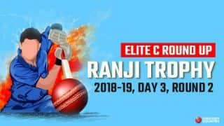 Ranji Trophy 2018-19, Elite C, Round 2, Day 3: Services-Rajasthan match evenly poised