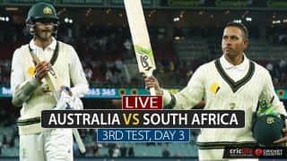 LIVE Cricket Score, AUS vs SA, 3rd Test, Day 3 at Adelaide: Stumps