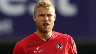 Andrew Flintoff claims wicket with first ball as he features in T20 Blast final for Lancashire