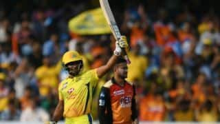SRH vs CSK, Qualifier 1: Dhawan departs for golden duck