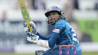 Tillakaratne Dilshan dismissed by Chris Woakes