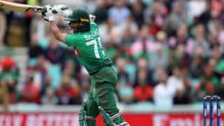 शाकिब अल हसन के अर्धशतक से बांग्लादेश ने न्यूजीलैंड को दिया 245 का लक्ष्य