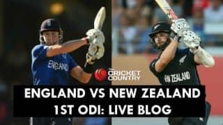 Live Cricket Score England vs New Zealand 2015, 1st ODI at Edgbaston, NZ 198 in 31.1 overs: NZ lose by 210 runs