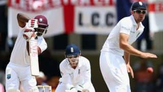 West Indies struggling at 162/5 at lunch on Day 5 in 1st Test vs England at Antigua