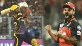 IPL 2019: Bangalore beat Kolkata by 10 runs at Eden Gardens, Russell, Rana shines