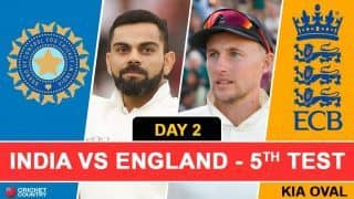 Highlights, India vs England, 5th Test, Day 2 Full Cricket Score and Result: India 174/6, trail England (332) by 158 runs