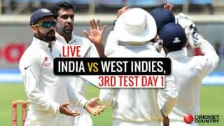 IND 234/5, 90 overs | India vs West Indies 3rd Test, Day 1 Live Updates: STUMPS