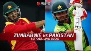 ZIM 128 in 37 Overs | Live Cricket Score Pakistan vs Zimbabwe 2015, 1st ODI at Harare: Pakistan win by 131 runs