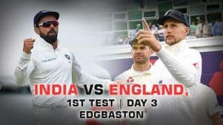 Highlights, India vs England, 1st Test, Day 3 Full Cricket Score and Result: Virat Kohli takes India to 110/5 in chase of 194 to win