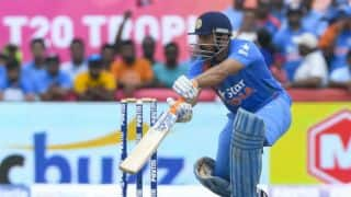 MS Dhoni says Indian Test team shaping up well