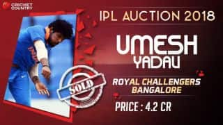Umesh sold for INR 4.2 Cr to RCB
